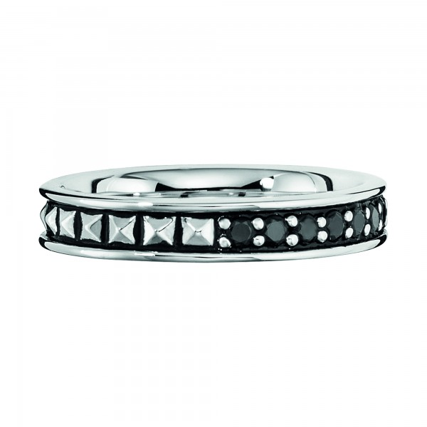 cai Ring 925/- Sterling Silber rhodiniert Spinell