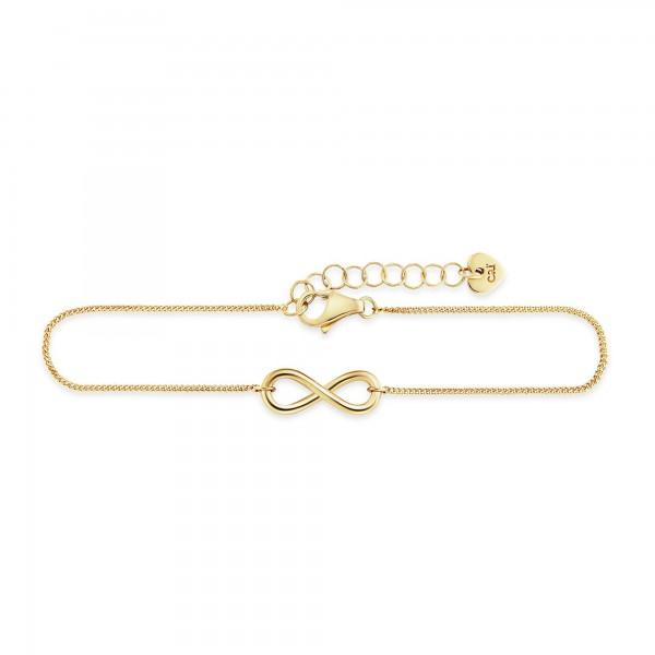 cai 925/- Sterling Silber vergoldet Infinity Armband