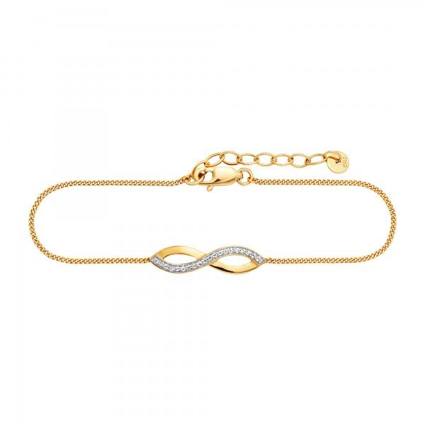 cai 925/- Sterling Silber vergoldet Topas Armband