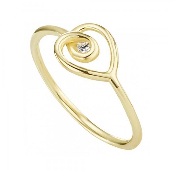 cai Ring 925/- Silber vergoldet Zirkonia