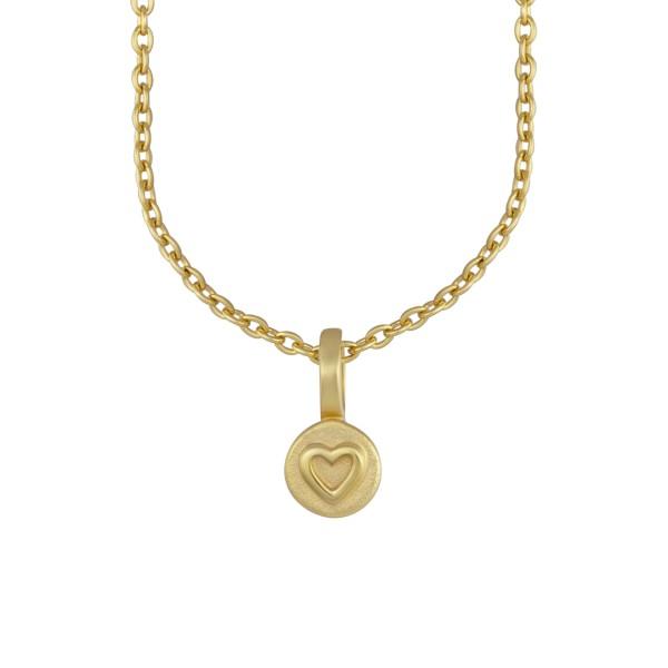 cai Anhänger mit Kette 925/- Sterling Silber vergoldet Herz