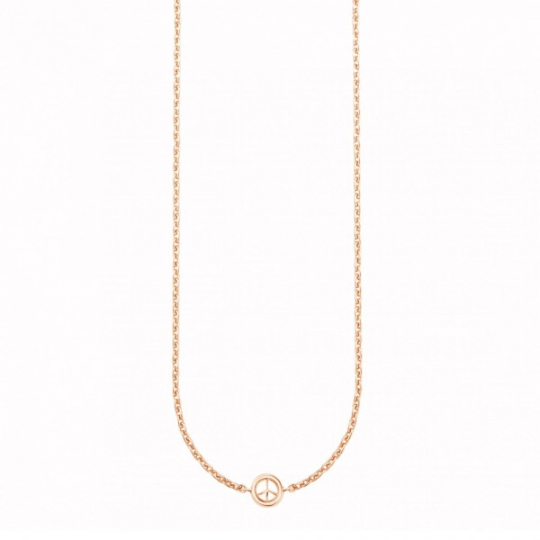 cai 925/- Sterling Silber rotvergoldet Peace Collier