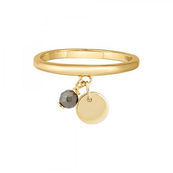 cai Ring 925 Silber vergoldet Anhänger Hämatit Plättchen