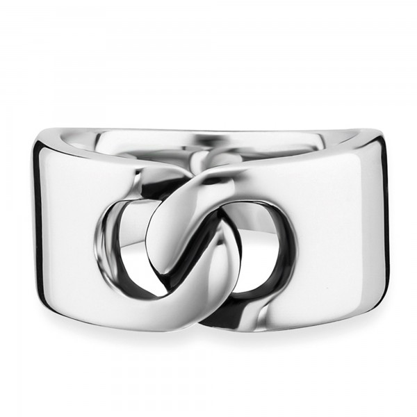 cai 925/- Sterling Silber rhodiniert poliert Ring