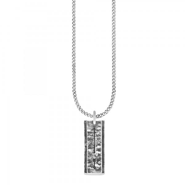 cai Anhänger mit Kette 925/- Sterling Silber oxidiert Pfeil