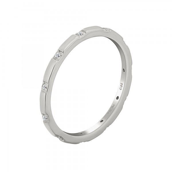 cai Ring 925 Silber rhodiniert mit Zirkonia Stacking