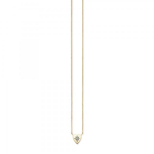 cai Collier 925/- Sterling Silber vergoldet Zirkonia Herz
