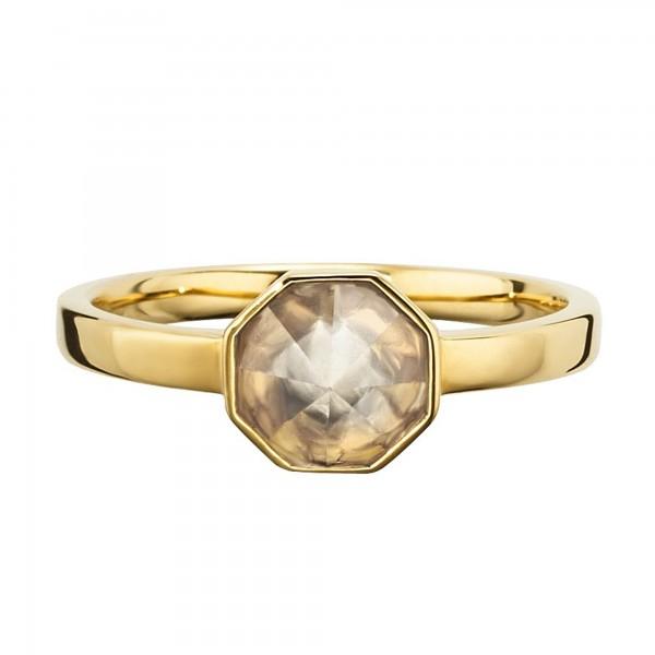 cai Ring 925/- Sterling Silber vergoldet Kristall