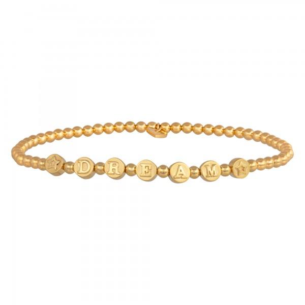 cai 925/- Sterling Silber vergoldet DREAM Stretch-Armband