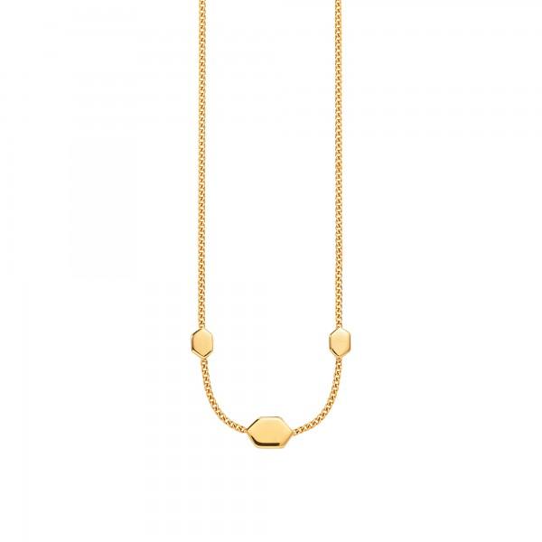 cai Collier 925/- Sterling Silber vergoldet Hexagon Sechseck Wabe