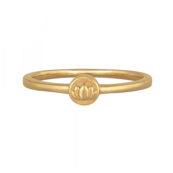 cai Ring 925/- Sterling Silber vergoldet Lotusblüte