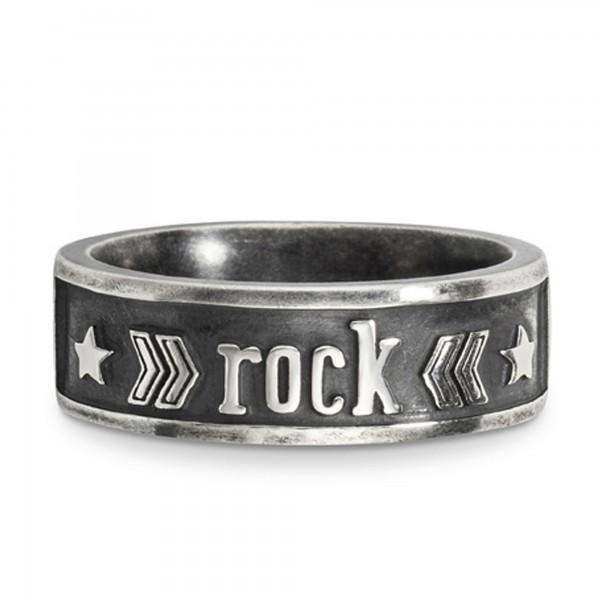 cai Ring 925/- Sterling Silber matt oxidiert 'rock'