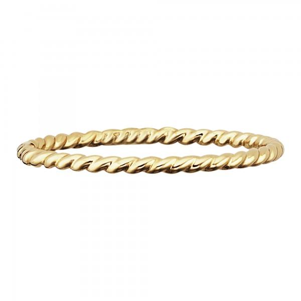 cai Ring 925/- Sterling Silber gelb vergoldet matt