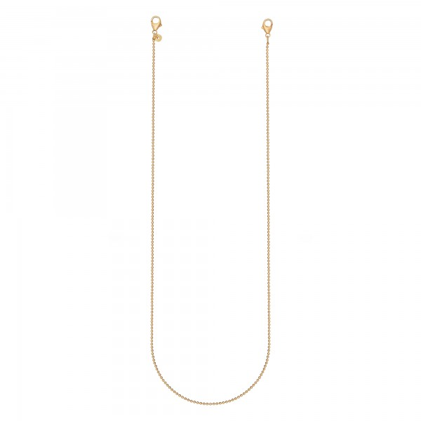 cai 925 Silber vergoldet 70cm Brillenkette Maskenkette