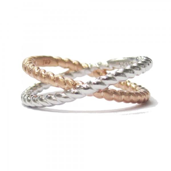 cai Ring 925/- Sterling Silber rotvergoldet