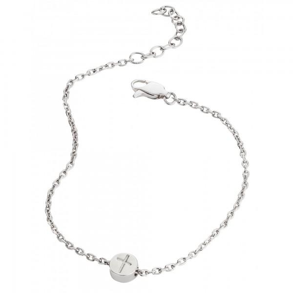 cai Armband 925/- Sterling Silber rhodiniert Kreuz