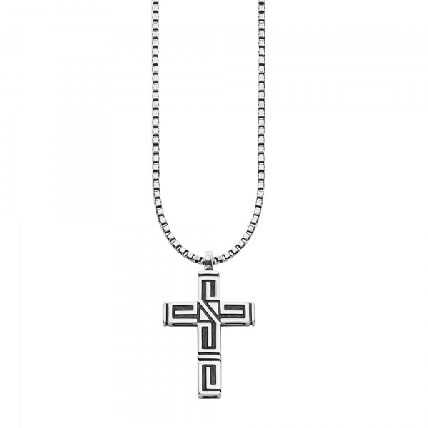 cai Anhänger mit Kette 925/- Sterling Silber rhodiniert Kreuz