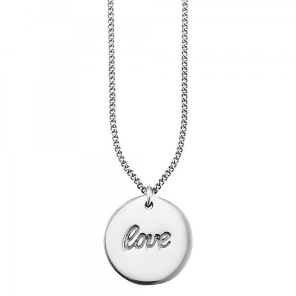 cai Anhänger mit Kette 925/- Sterling Silber rhodoniert LOVE