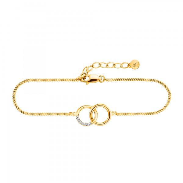 cai Armband 925/- Sterling Silber gelb vergoldet Topas