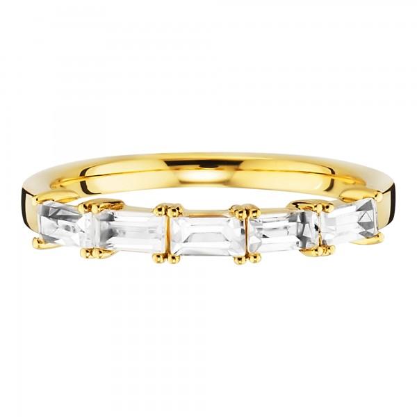 cai Ring 925/- Sterling Silber vergoldet Weißtopas