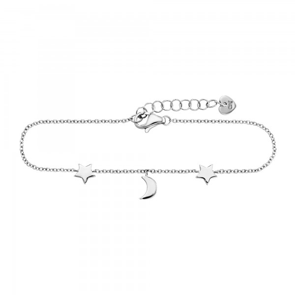cai Armband 925/- Sterling Silber rhodiniert Mond Sterne