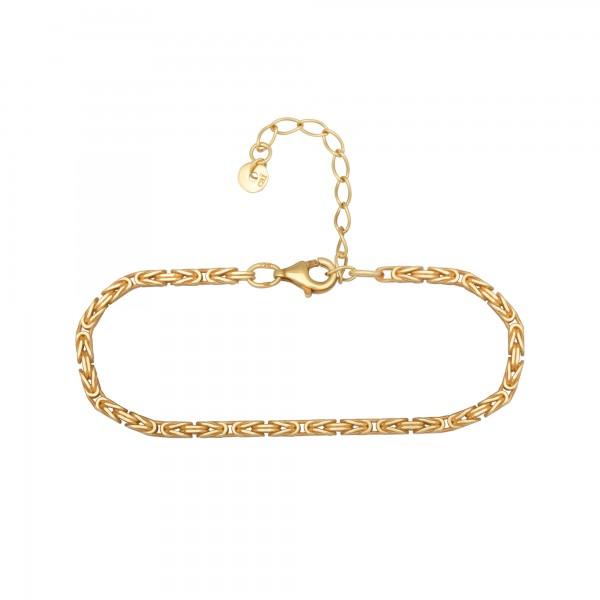cai Armband 925 Silber vergoldet Königskette diamantiert