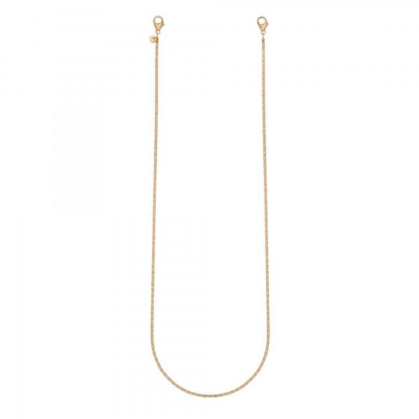 cai Brillenkette Maskenkette 925 Silber vergoldet 70cm
