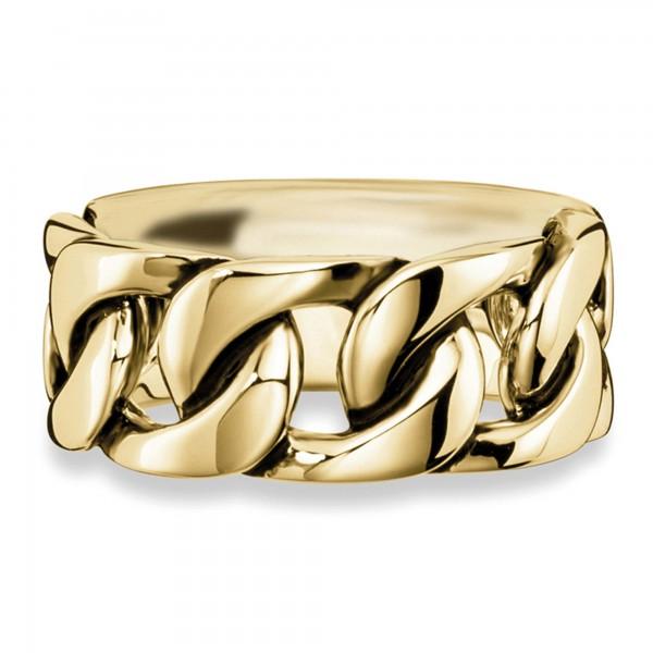 cai Ring 925/- Sterling Silber gelb vergoldet geschwärzt