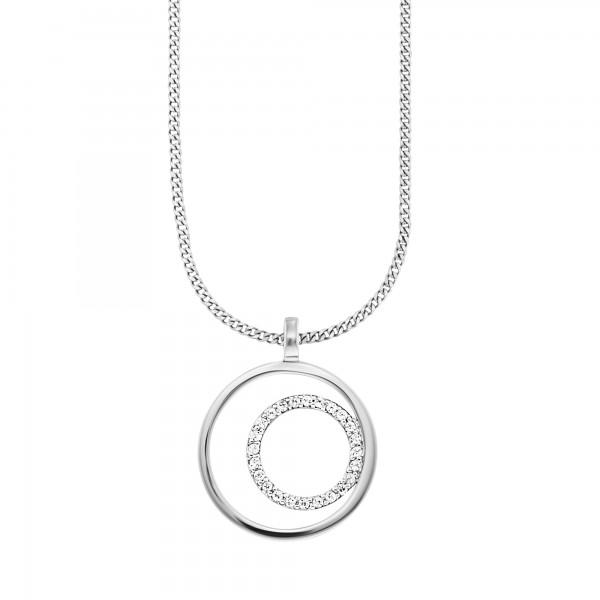 cai 925/-Sterling Silber rhodiniert Topas Anhänger mit Kette