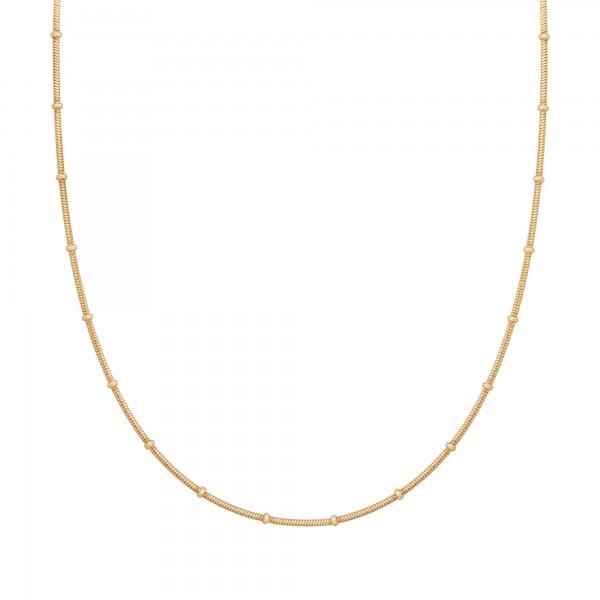 cai Collier 925 Silber vergoldet Schlangenkette rund mit Kugeln