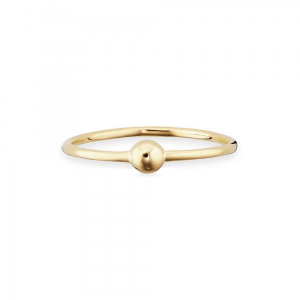 cai Ring 925/- Sterling Silber vergoldet Kugel