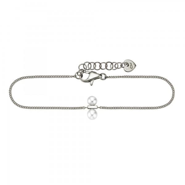 cai Armband 925/- Sterling Silber rhodiniert Perlen