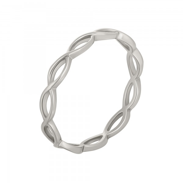cai Ring 925/- Sterling Silber rhodiniert Cut Outs Stacking