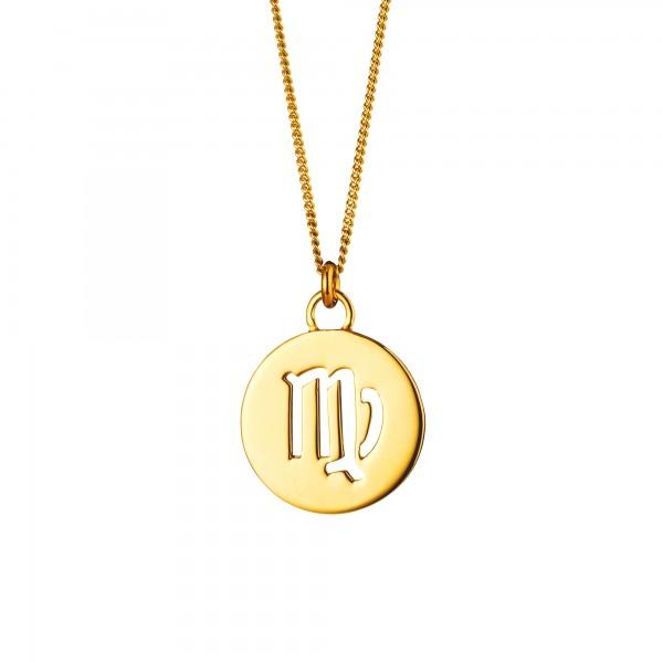 cai Halskette Jungfrau Sternzeichen 925/- Sterling Silber vergoldet