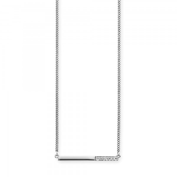 cai Collier 925/-Sterling Silber rhodiniert Topas