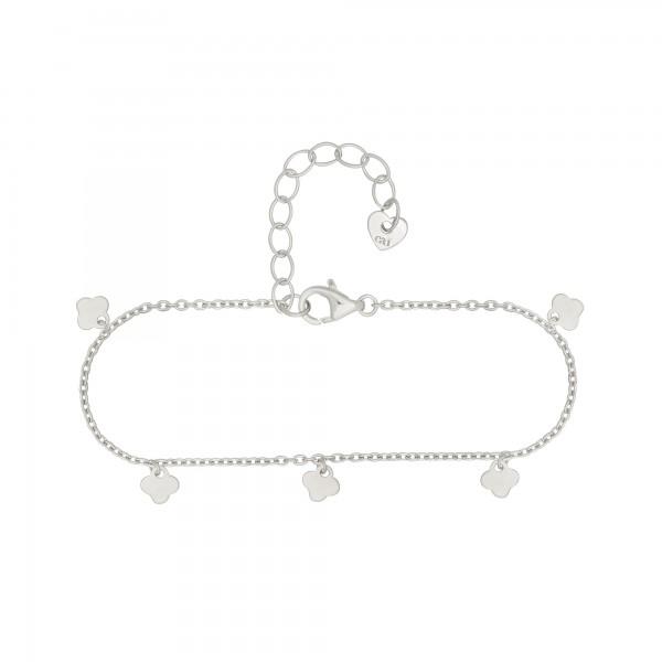 cai Armband 925 Silber rhodiniert Anhänger Kleeblatt