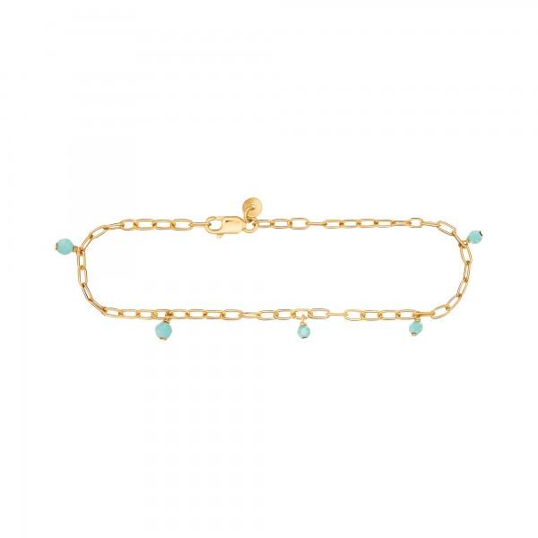 cai Armband 925 Silber vergoldet Amazonit