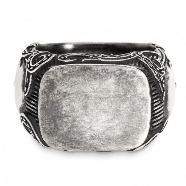 cai Ring 925/- Sterling Silber matt-oxidiert Totenkopf