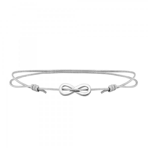 cai 925/- Sterling Silber rhodiniert Infinity Armband