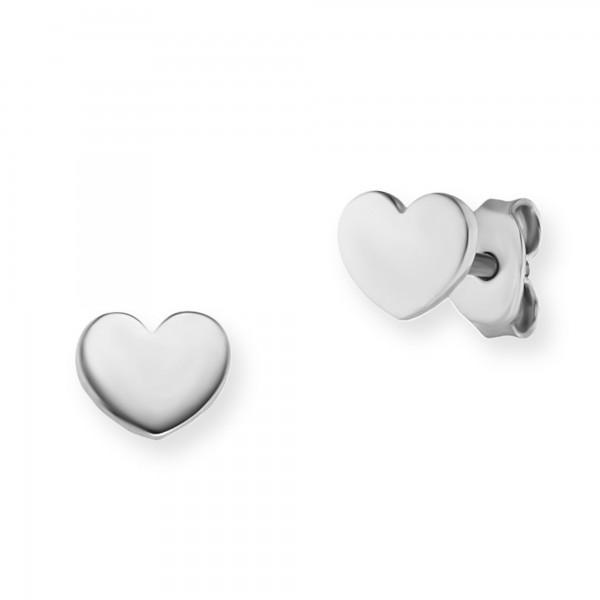 cai Ohrstecker 925/- Sterling Silber rhodiniert Herz