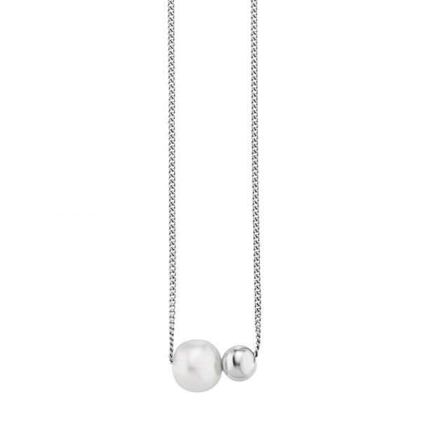 cai Collier 925/- Sterling Silber rhodiniert Perle