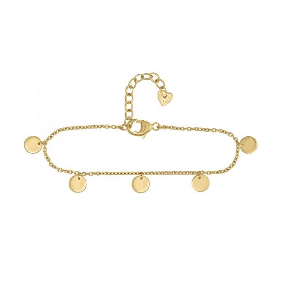 cai Armband 925/- Sterling Silber vergoldet Plättchen Boho