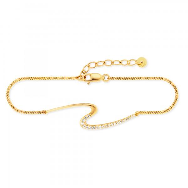 cai Armband 925/- Sterling Silber vergoldet Topas