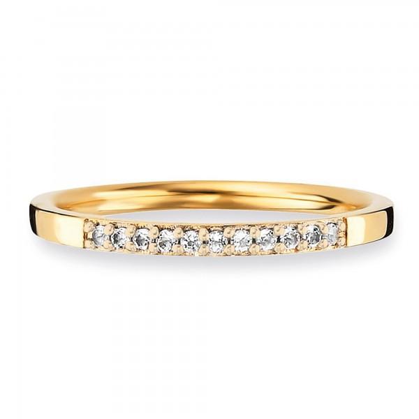cai Ring 925/- Sterling Silber vergoldet Topas
