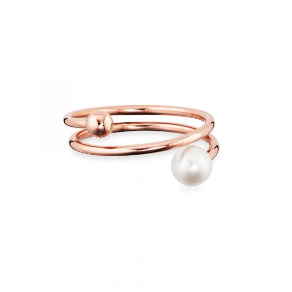 cai Ring 925/- Sterling Silber rotvergoldet Perle