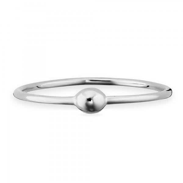 cai Ring 925/- Sterling Silber rhodiniert Kugel
