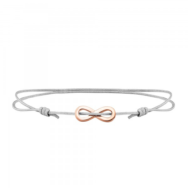cai Armband 925/- Sterling Silber rotvergoldet Infinity