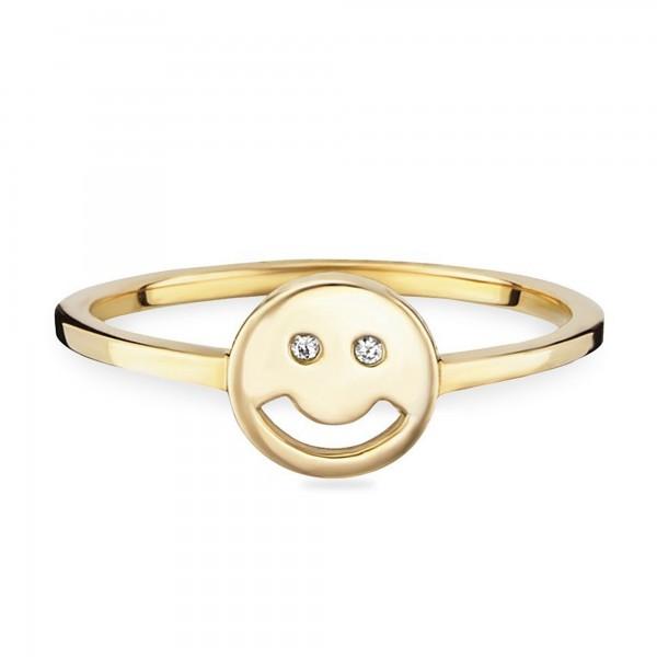 cai Ring 925/- Sterling Silber vergoldet Emoji