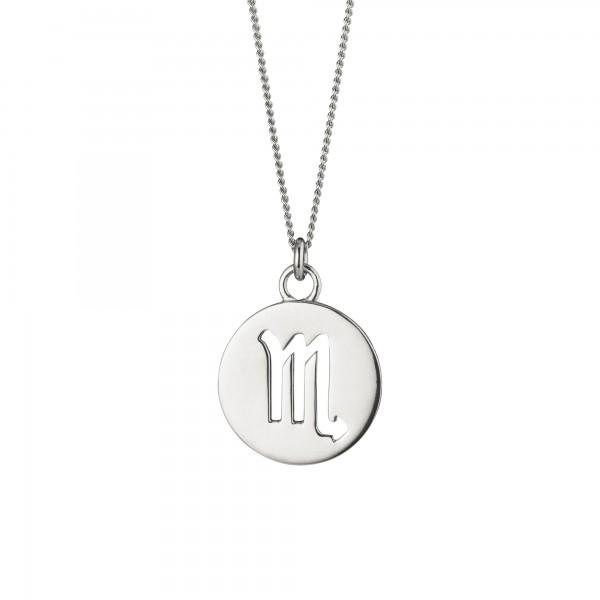 cai Skorpion Sternzeichen 925/- Sterling Silber rhodiniert Halskette