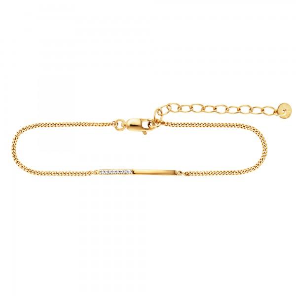 cai Armband 925/- Sterling Silber vergoldet Weißtopas